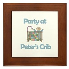 Party at Peter's Crib Framed Tile