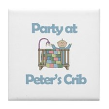 Party at Peter's Crib Tile Coaster