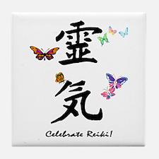 Celebrate Reiki Tile Coaster