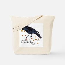 Primitive Crow Tote Bag
