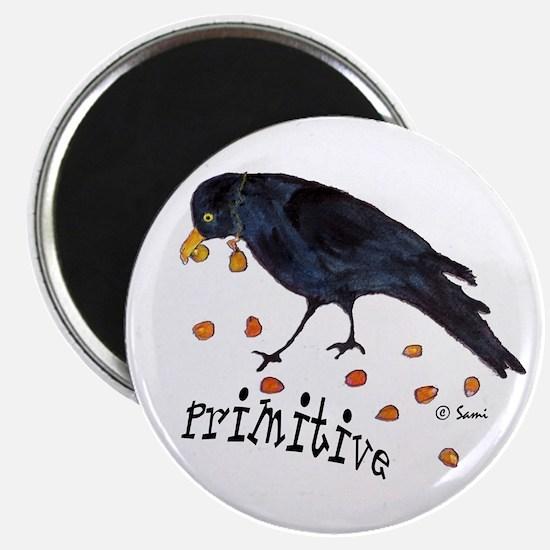 Primitive Crow Magnet