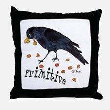 Primitive Crow Throw Pillow