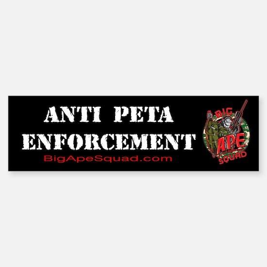 Anti Peta Big Ape Squad Bumper Bumper Bumper Sticker