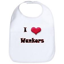 I Love(Heart) Wankers Bib