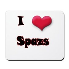 I Love(Heart) Spazs Mousepad