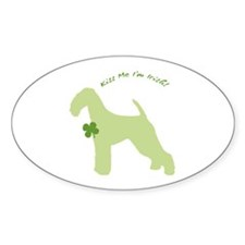 Airedale... Kiss Me I'm Irish! Oval Decal
