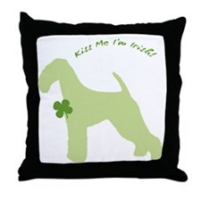 Airedale... Kiss Me I'm Irish! Throw Pillow