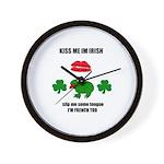 kiss me im irish ...Wall Clock