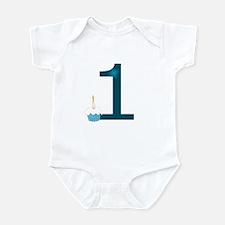 First Birthday - Blue Infant Bodysuit