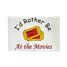 At The Movies Rectangle Magnet