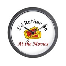 At The Movies Wall Clock