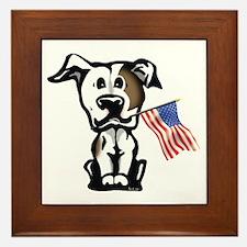 American Pit Bull Terrier Framed Tile