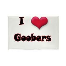 I Love(Heart) Goobers Rectangle Magnet