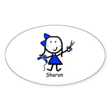 Hairstylist - Sharon Oval Decal
