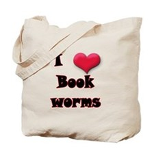 I Love(Heart) Bookworms Tote Bag