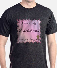 Dachshund Shopping T-Shirt