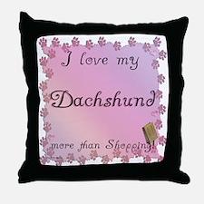 Dachshund Shopping Throw Pillow