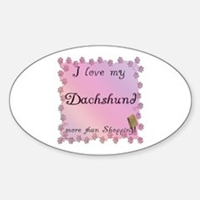 Dachshund Shopping Oval Decal