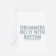 Drummers Rhythm Greeting Cards (Pk of 10)
