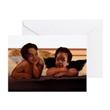 Nubian Cherubs for Love Greeting Cards (Pk of 10)