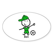 Soccer - Ben Oval Decal