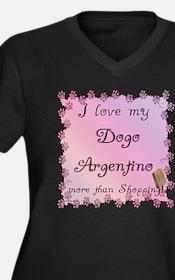 Dogo Shopping Women's Plus Size V-Neck Dark T-Shir
