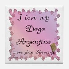 Dogo Shopping Tile Coaster