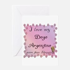 Dogo Shopping Greeting Card