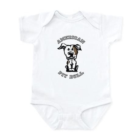 Brown & White Pit Bull Infant Bodysuit