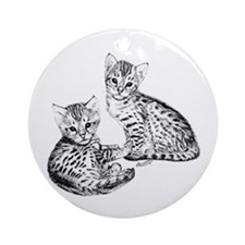Savannah kittens Keepsake (Round)