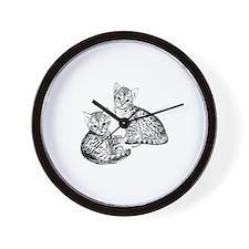 Savannah kittens Wall Clock