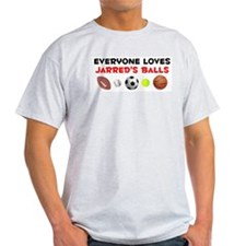 Loves Jarred's Balls (W) T-Shirt