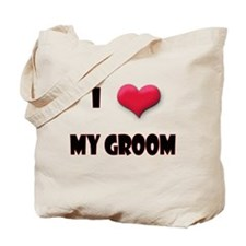 I Love(Heart) My Groom Tote Bag