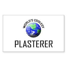 World's Coolest PLASTERER Rectangle Decal