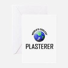 World's Coolest PLASTERER Greeting Cards (Pk of 10