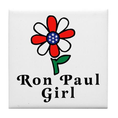 Ron Paul Girl Tile Coaster