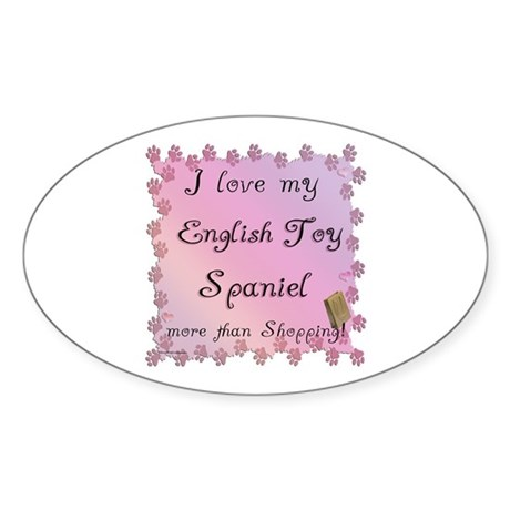 English Toy Shopping Oval Sticker