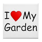 I (Heart) My Garden Tile Coaster