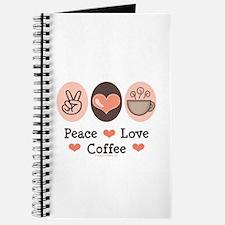 Peace Love Coffee Lovers Journal