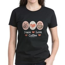 Peace Love Coffee Lovers Tee