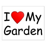 I (Heart) My Garden Small Poster