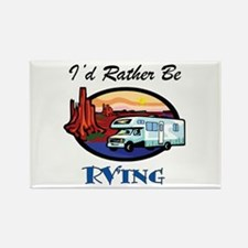 I'd Rather Be RV'ing Rectangle Magnet