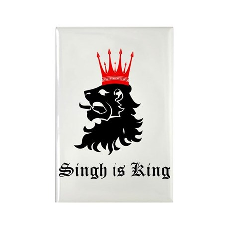 Singh is King Rectangle Magnet