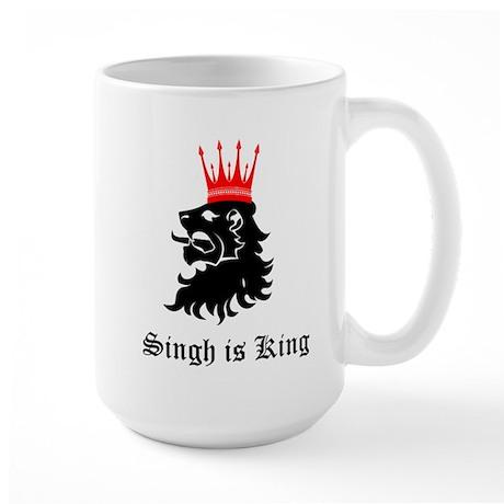 Singh is King Large Mug