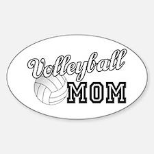 Volleyball Mom Sticker (Oval)