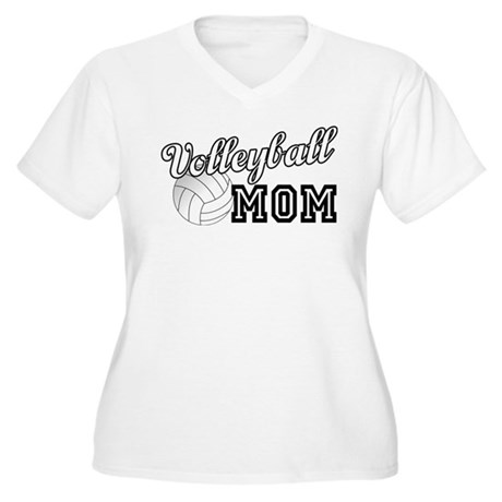 Volleyball Mom Women's Plus Size V-Neck T-Shirt