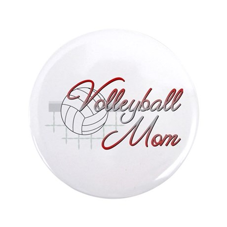 """Volleyball Mom 3 3.5"""" Button"""