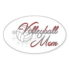 Volleyball Mom 3 Oval Decal