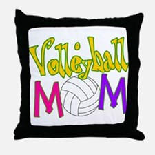 Volleyball Mom 4 Throw Pillow