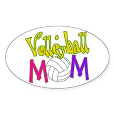 Volleyball Mom 4 Oval Decal
